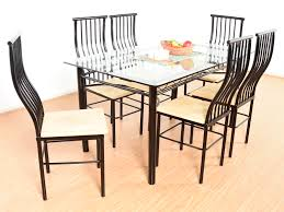 Sell Old Furniture Online Bangalore Akseli Iron Frame 6 Seater Dining Set Buy And Sell Used Furniture