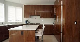 European Kitchen Cabinet Doors High Gloss Walnut Veneer Cabinetry Contemporary Kitchen Cabinets