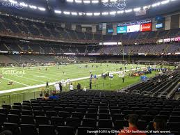 mercedes dome orleans mercedes superdome section 149 seat views seatgeek