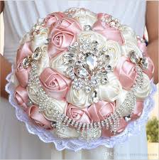 wedding flowers hertfordshire wedding bridal bouquets with handmade pink and ivory satin