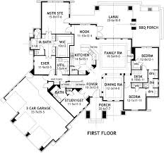 craftsman style house floor plans craftsman style house plans 2847 square foot home 1 story 4