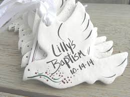 baptism dove favors set of 10 personalized salt dough ornaments