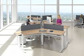 Cubicle Office Desks Adjustable Height Office Desk 71 Trendy Interior Or Adjustable