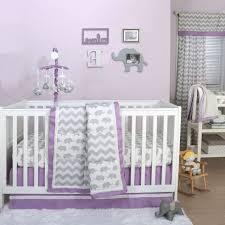 Child Crib Bed Grey And Purple Crib Bedding Abowloforanges