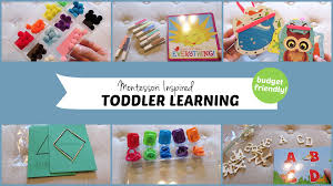 10 montessori inspired toddler learning activities youtube