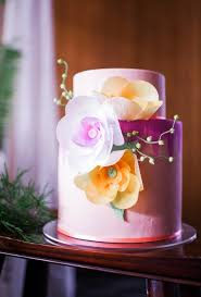 peach ombre wedding cake custom wedding cakes honey crumb cake studio seattle bakery