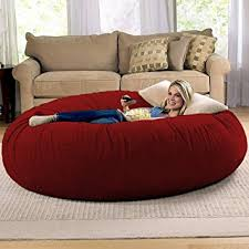 bean bag sofa bed amazon com jaxx 6 foot cocoon large bean bag chair for adults
