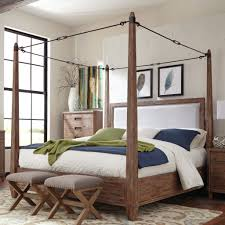 Canopy Bed Ideas Bedroom Brown Wood Platform Bed White Matresses Gray Wood Chair