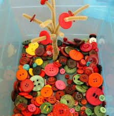 time activity for preschoolers fall button trees