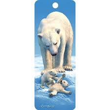 a perefect 3d polar bears bookmark for girls who love reading