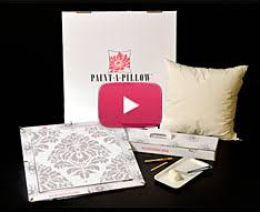 jacquard fabric paint for diy accent pillow stencil kits