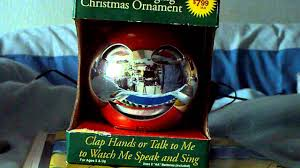 animated singing ornament