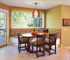 Dining Room Small Dining Room Design With Dark Round Dining Table - Dining room banquette bench