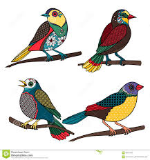 ornamental birds stock vector image 66817083