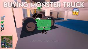 buying monster truck roblox jailbreak