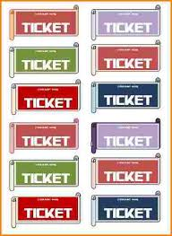 7 avery ticket template wedding spreadsheet