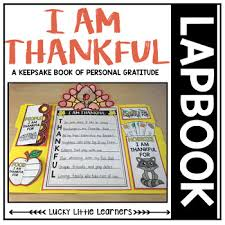 thankful lapbook thanksgiving activities by lucky learners