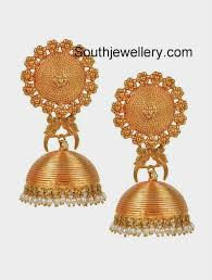 gold jhumka earrings design with price pakshi temple gold jhumka earrings jewellery designs