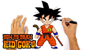 how to draw kid goku dragon ball z youtube