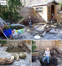 Before  After Karens Amazing Diy Backyard  DesignSponge - Diy backyard design
