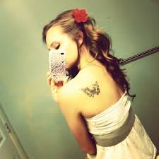 with butterfly on back shoulder tattooshunt com