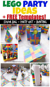 birthday party ideas and free lego templates