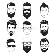 haircuts with beards set of vector bearded hipster men faces haircuts beards mustaches