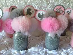 centerpieces for baby shower girl pink gray baby shower decorations baby shower centerpieces on