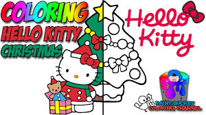 how to color hello kitty christmas tree sanrio coloring page