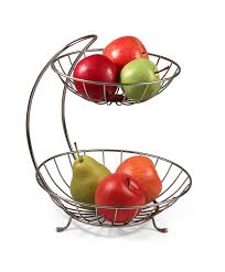 fruit basket two tier curved fruit basket in bread and fruit baskets