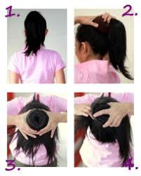 tutorial sirkam rambut panjang cara membuat sanggul pramugari skydewi