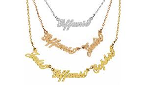 gold custom name necklace custom name necklace jewellshouse groupon