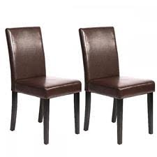 Contemporary Black Dining Chairs Set Of 4 Brown Leather Contemporary Design Dining Chairs