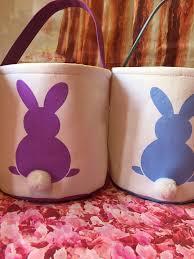 blank easter baskets canvas bunny easter basket easter egg hunt pale blank easter