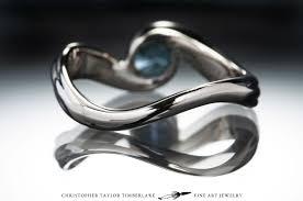 14k palladium white gold 14k palladium white gold engagement ring with aquamarine