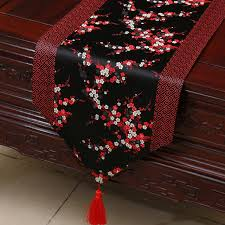 luxury damask table runner pretty cherry blossom damask fabric table runner high end patchwork