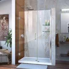 48 Inch Glass Shower Door 48 Inch Frameless Shower Door Wayfair