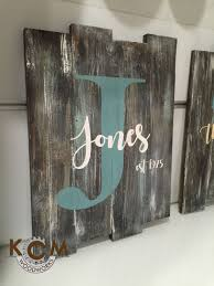 custom family name sign engraved hand painted rustic wood sign