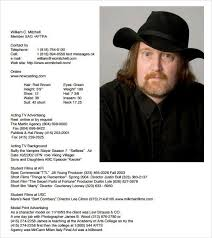Actor Resume Builder Free Acting Resume Template Download Best Business Template