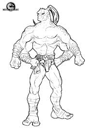 mortal kombat characters coloring pages coloring