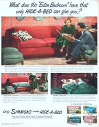 Innerspring Mattress For Sofa Bed by Simmons Company Advertisement Gallery