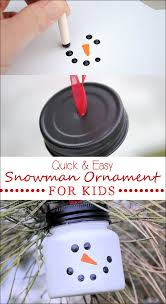 easy snowman ornaments for