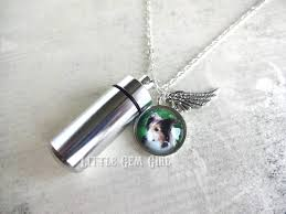 custom photo pet urn charm necklace cremation ashes capsule