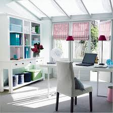 small home office design painted with white wall interior color