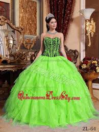 green quinceanera dresses green and black sweetheart embroidery with beading