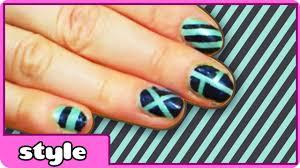 stripe nail art design stripe nails tutorial for everyone