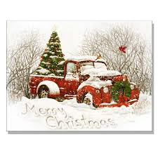 vintage red truck with christmas tree celebrate u0026 decorate