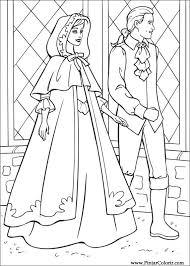 drawings paint u0026 colour barbie princess print design 011