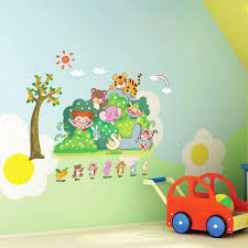 cartoon kinds of zoo animal wall sticker for kindergarten and cartoon kinds of zoo animal wall sticker for kindergarten and children room removable quotes 3d wall stickers for kids rooms removable vinyl wall decals