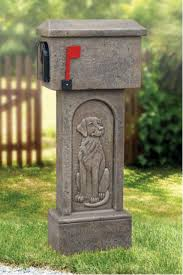 Pedestal Mailbox Decorative Mailboxes Bayshore Concrete And Landscape Materials